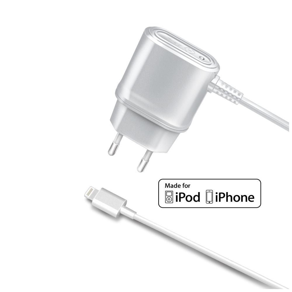 Cestovní nabíječka CELLY s konektorem Apple Lightning, 1A, blister