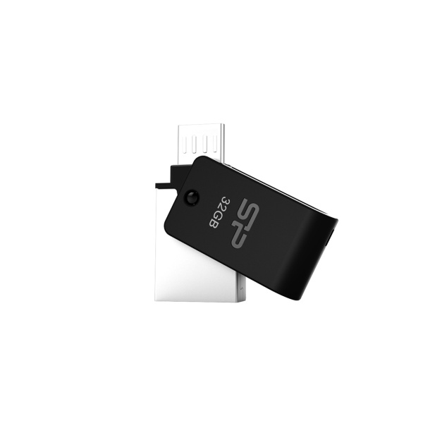 USB-OTG flash disk s druhým microUSB konektorem Silicon Power Mobile X21, 32GB, USB 2.0