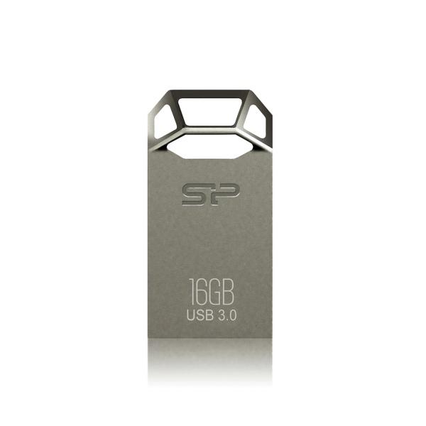 USB flash disk Silicon Power Jewel J50, 16GB, USB 3.0, stříbrný
