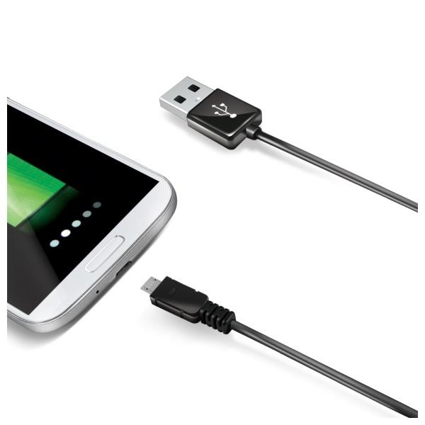 Datový USB kabel CELLY s konektorem microUSB, 2M, černý