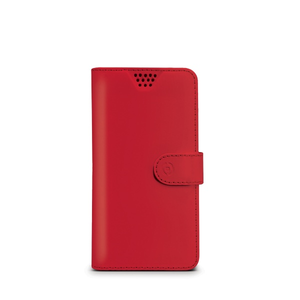"Pouzdro typu kniha CELLY Wally Unica, velikost M, 3.5"" - 4"", červené"