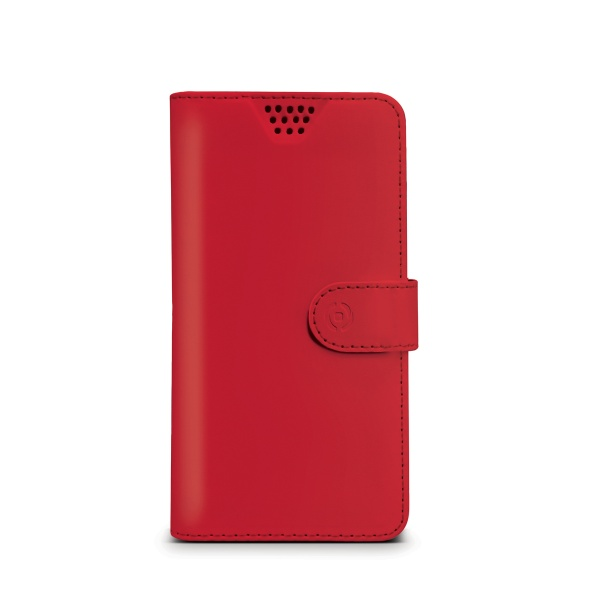 "Pouzdro typu kniha CELLY Wally Unica, velikost XL, 4.5"" - 5"", červené"
