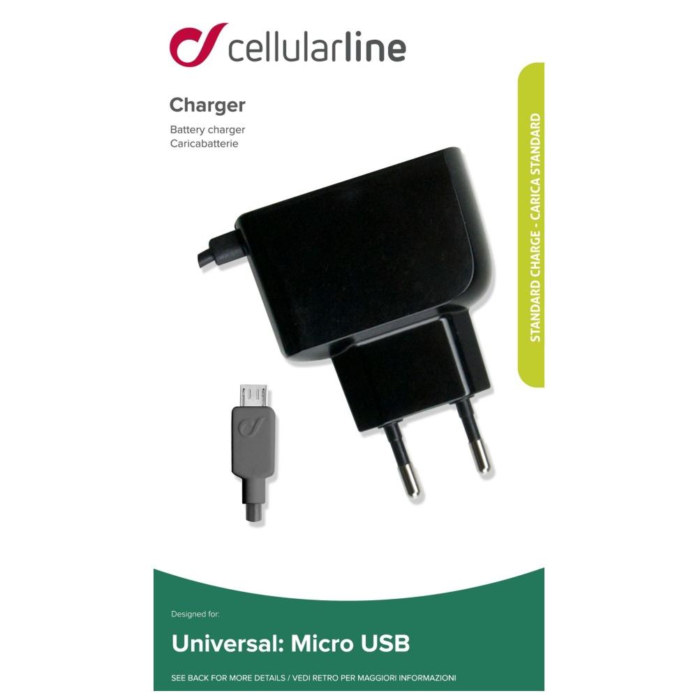 Cestovní nabíječka CellularLine s konektorem microUSB, 1A