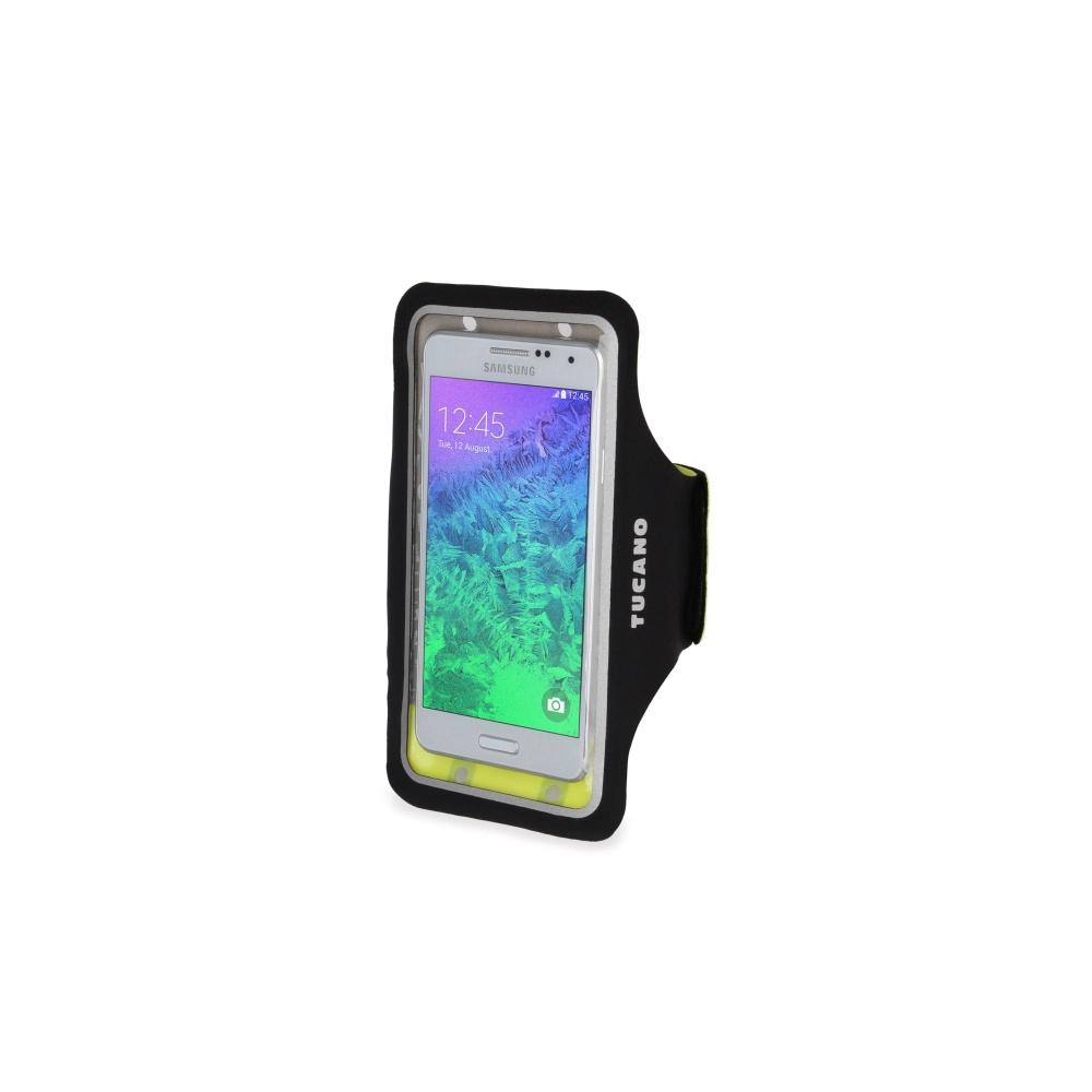 """Ultratenké sportovní pouzdro TUCANO Armband, pro telefony do velikosti 5"""", černé"""