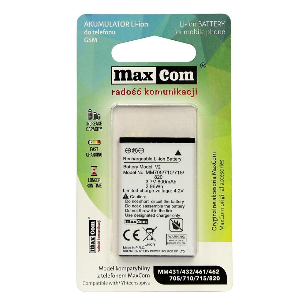 Originální baterie MAXCOM pro telefony MM431/432/461/462/705/710/715/820/136, Li-Ion