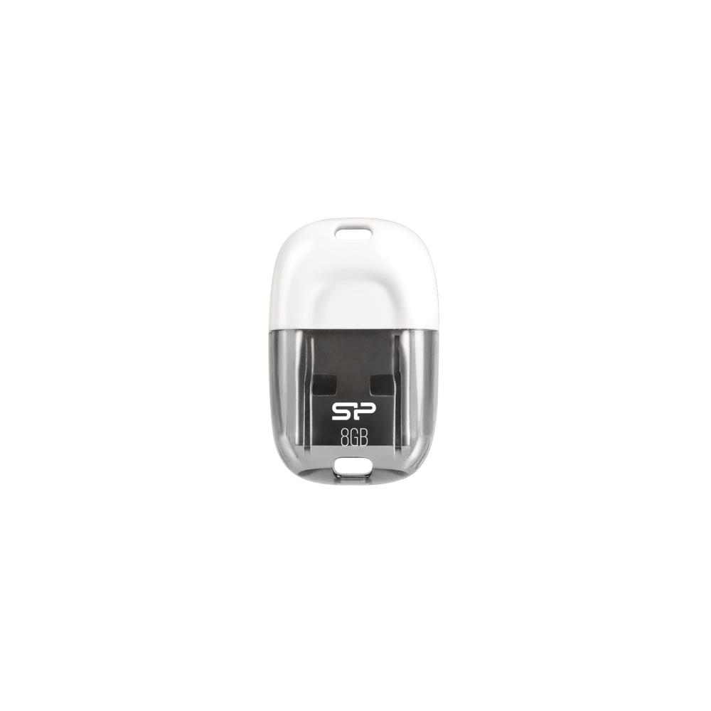 USB flash disk Silicon Power Touch 09, 8GB, USB 2.0, bílý
