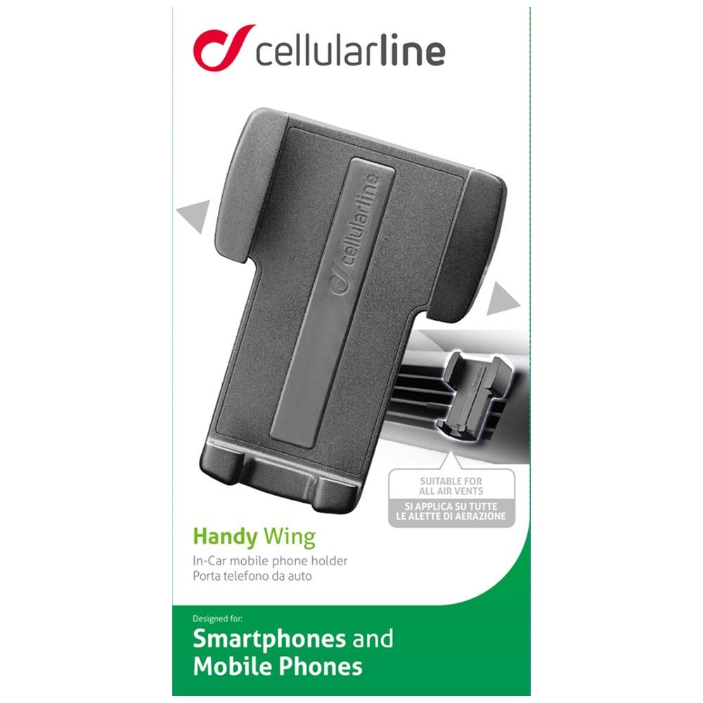 Univerzální držák do ventilace Cellularline Handy Wing, černý