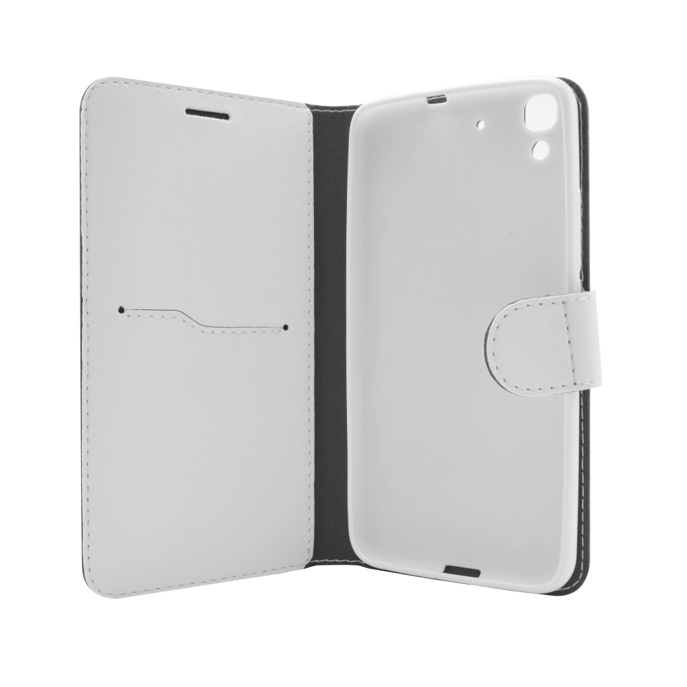 Pouzdro typu kniha FIXED FIT pro Huawei Y6, bílé