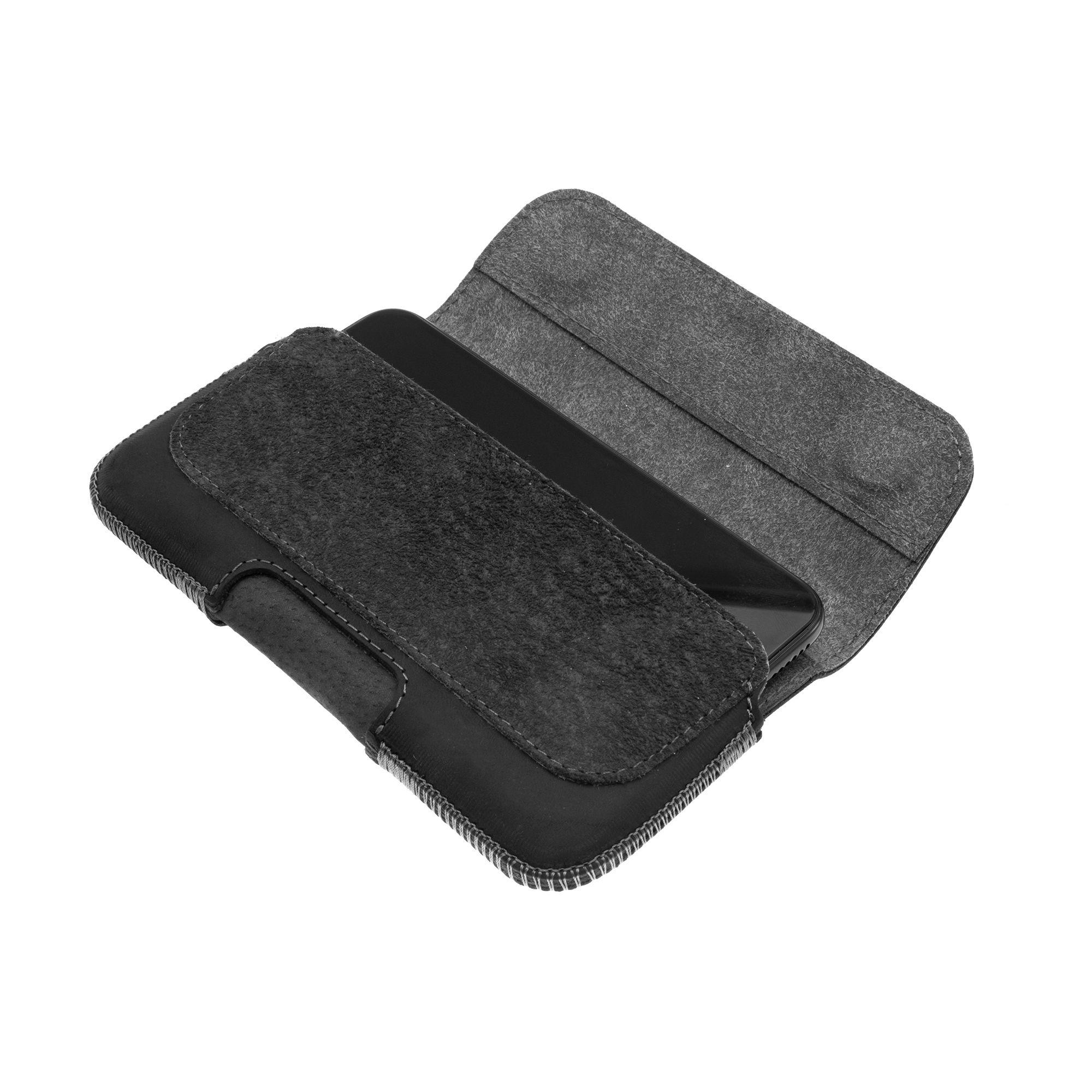 Horizontální kožené pouzdro FIXED Posh se zavíráním pro Apple iPhone 5/5S/SE, černé