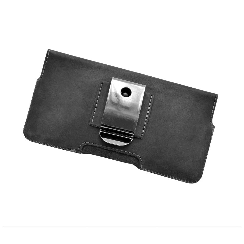 Horizontální kožené pouzdro FIXED Posh se zavíráním pro Apple iPhone 6/6S a 7/7S, černé