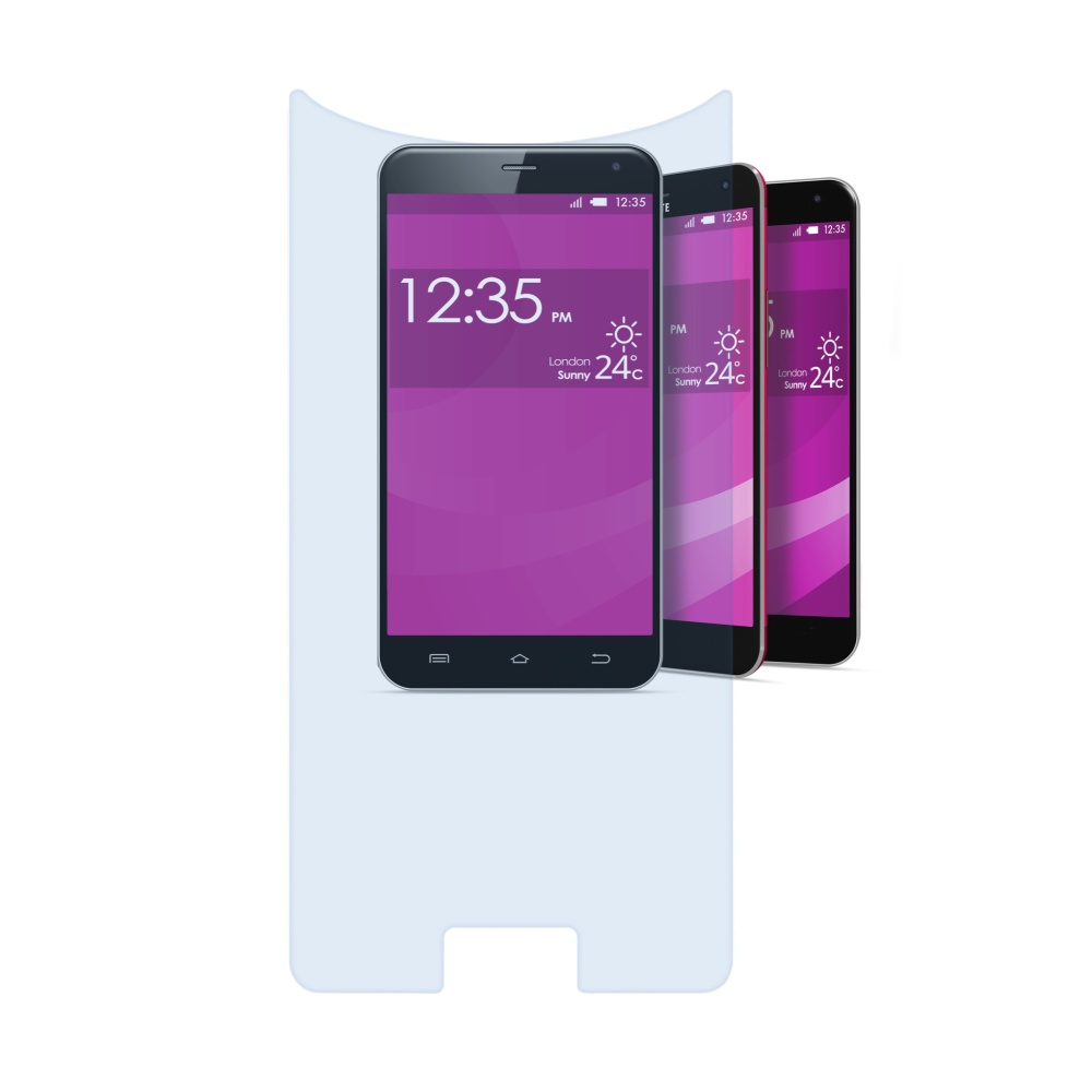 Univerzální temperované sklo Cellular Line SECOND GLASS, pro telefony o velikosti  5.5''až 5.7''