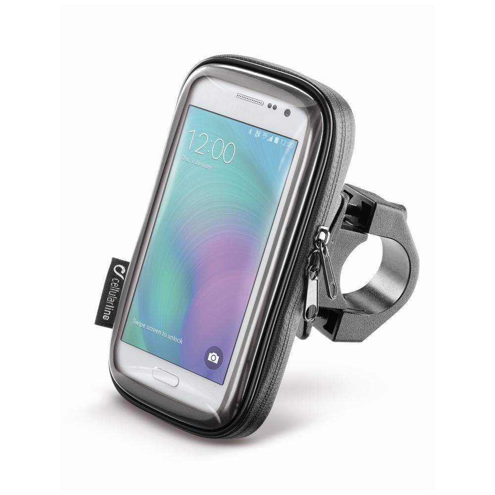 """Voděodolné pouzdro Interphone SMART pro telefony do velikosti 4.5"""", úchyt na řídítka, černé"""