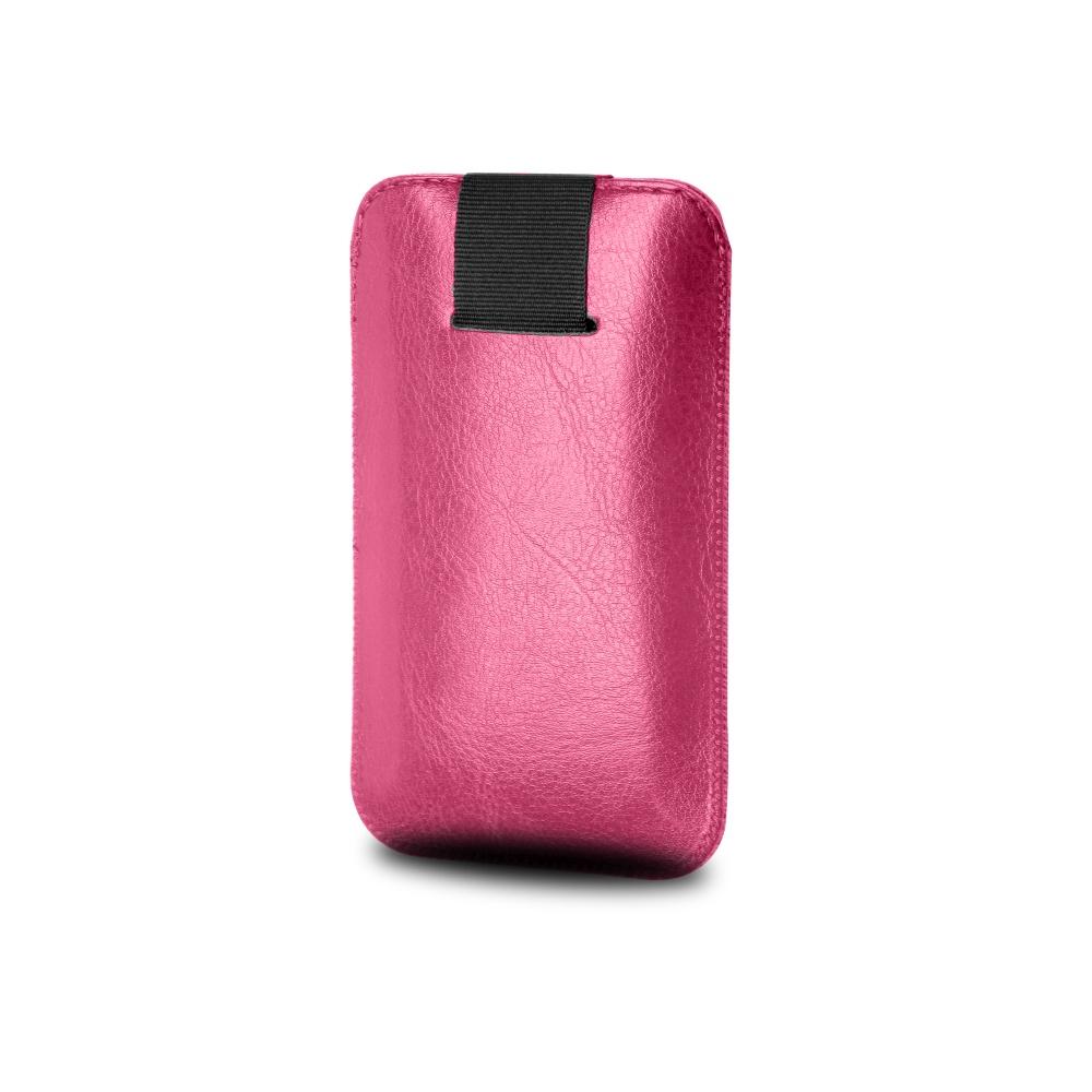 Pouzdro FIXED Soft Slim se zavíráním, PU kůže, velikost 5XL+, růžové