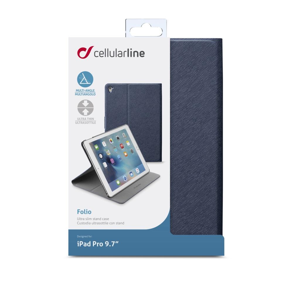 "Pouzdro se stojánkem CellularLine FOLIO pro Apple iPad Pro 9,7"" a Apple iPad Air 2, modré"