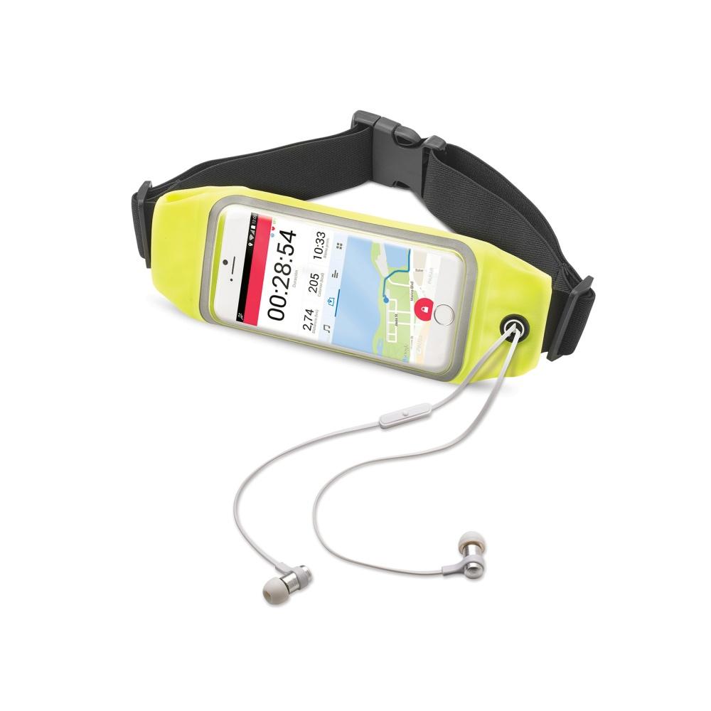 """Sportovní neoprénové pouzdro CELLY RunBelt View, pro telefony do 4.7"""", žluté"""