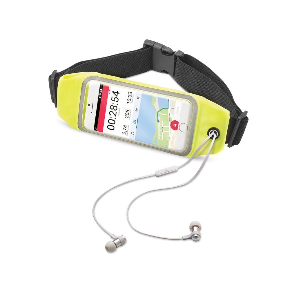 """Sportovní neoprénové pouzdro CELLY RunBelt View, pro telefony do 5.5"""", žluté"""