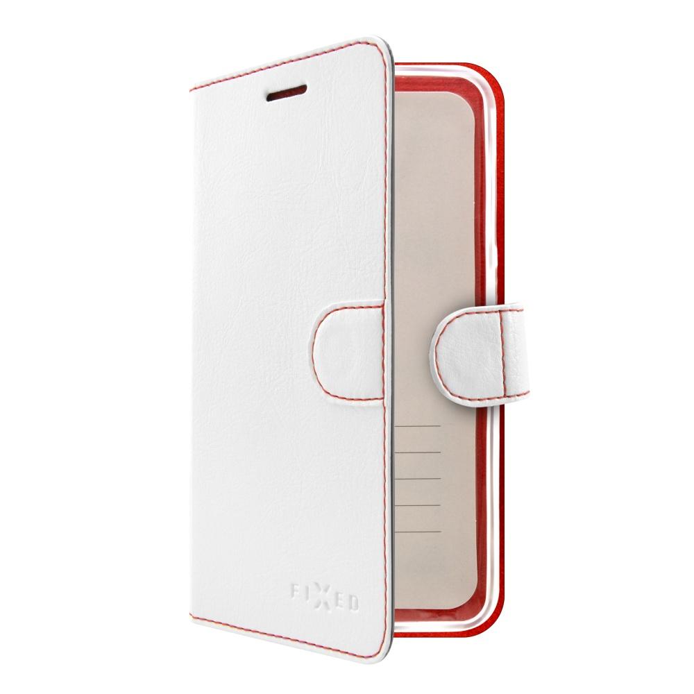 Pouzdro typu kniha FIXED FIT pro Huawei Y6 II, bílé