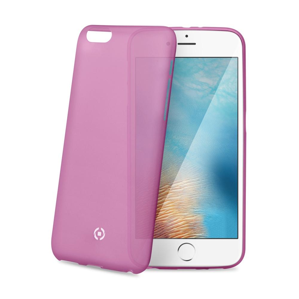 Ultra tenké TPU pouzdro CELLY Frost pro Apple iPhone 7 Plus/8 Plus, 0,29 mm, růžové