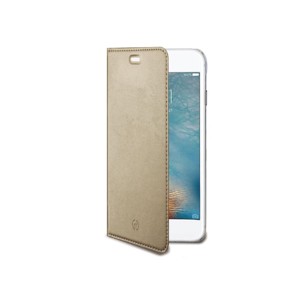 Ultra tenké pouzdro typu kniha CELLY Air pro Apple iPhone 7/8, PU kůže, zlaté