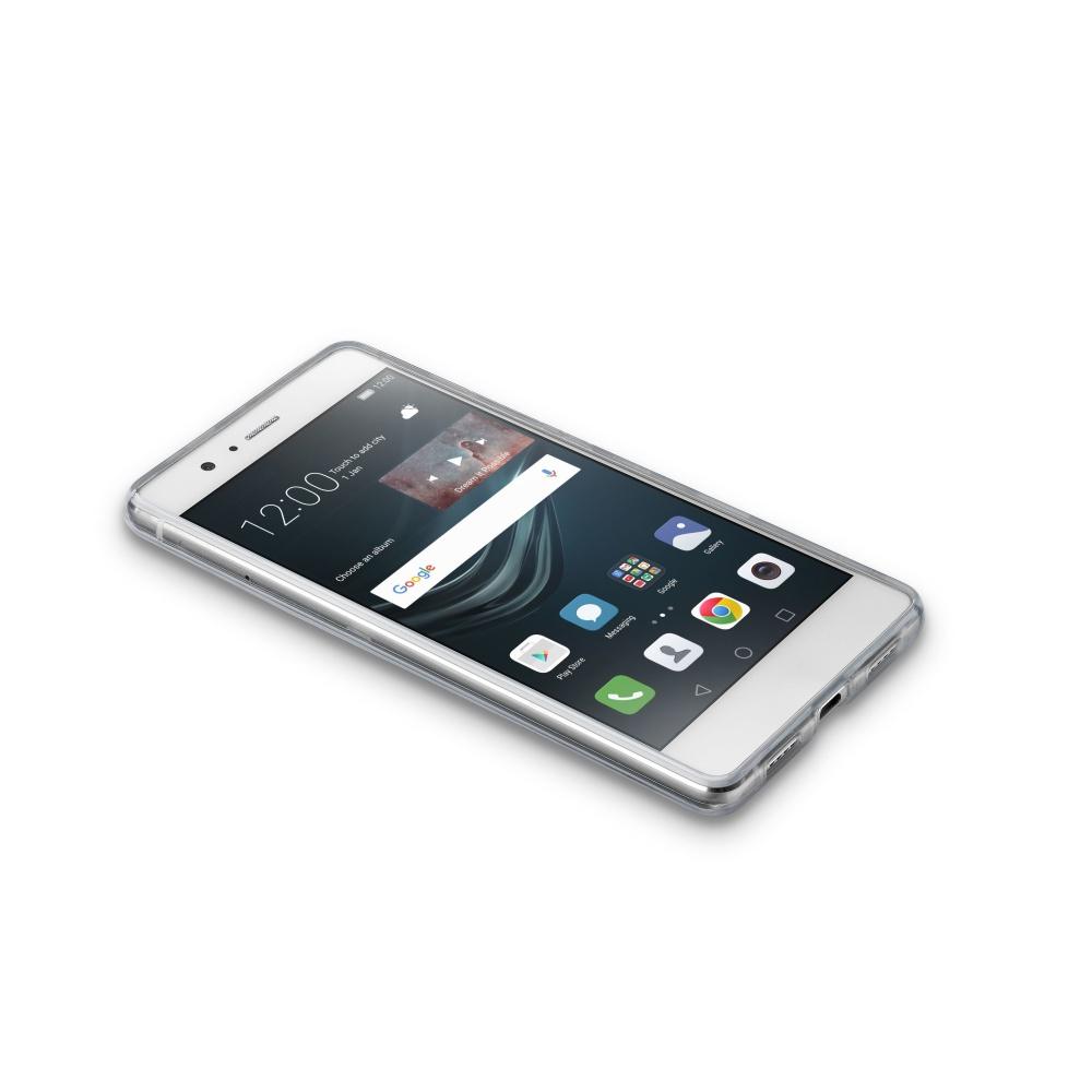 Zadní čirý kryt s ochranným rámečkem Cellularline CLEAR DUO pro Huawei P9 Lite