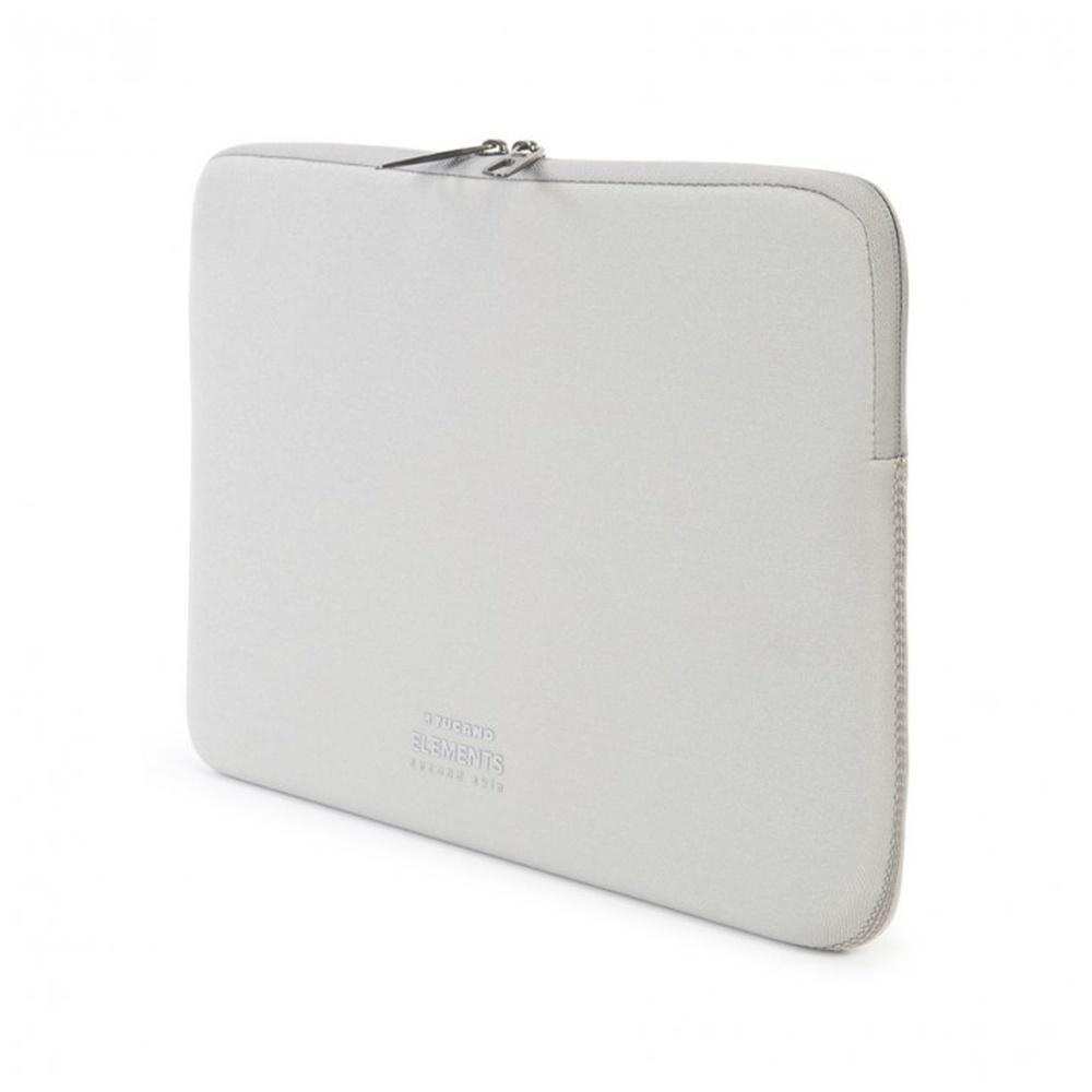 """Neoprenový obal TUCANO ELEMENTS SECOND SKIN pro MacBook Air 11"""", Anti-Slip Systém®, stříbrný"""