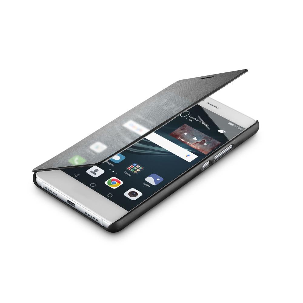 Pouzdro typu kniha Cellularline TOUCH s dotykovým čelním krytem pro Huawei P9 LITE, černé