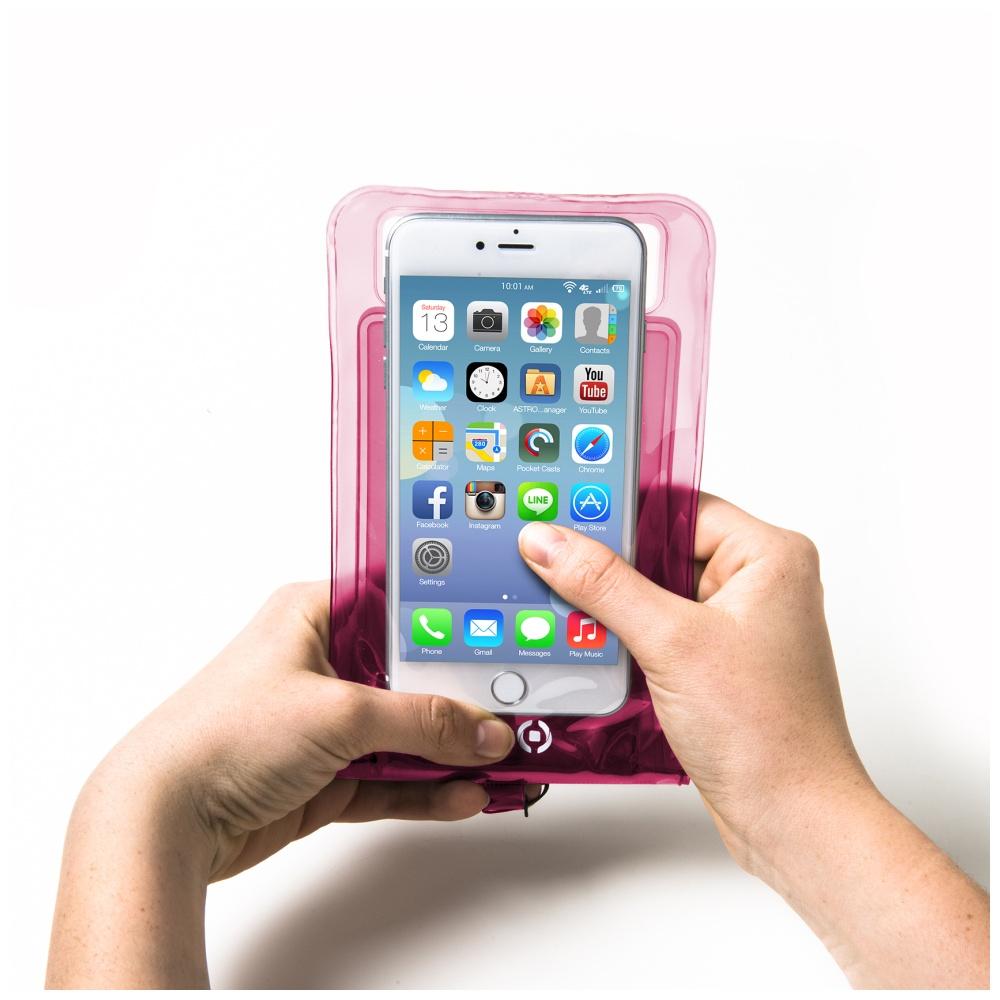 """Univerzální voděodolné pouzdro CELLY Splash Bag pro telefony 5,7 """", růžové"""