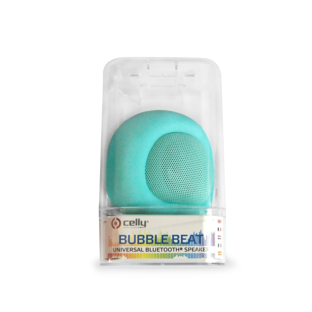 Bluetooth reproduktor CELLY Bubble Beat, tyrkysový