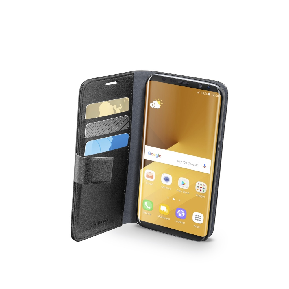 Pouzdro typu kniha CellularLine Book Agenda pro Samsung Galaxy S8 Plus, černé