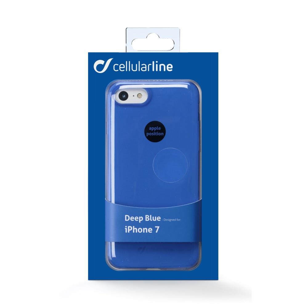 Barevné gelové pouzdro CELLULARLINE COLOR pro Apple iPhone 7/8, modré