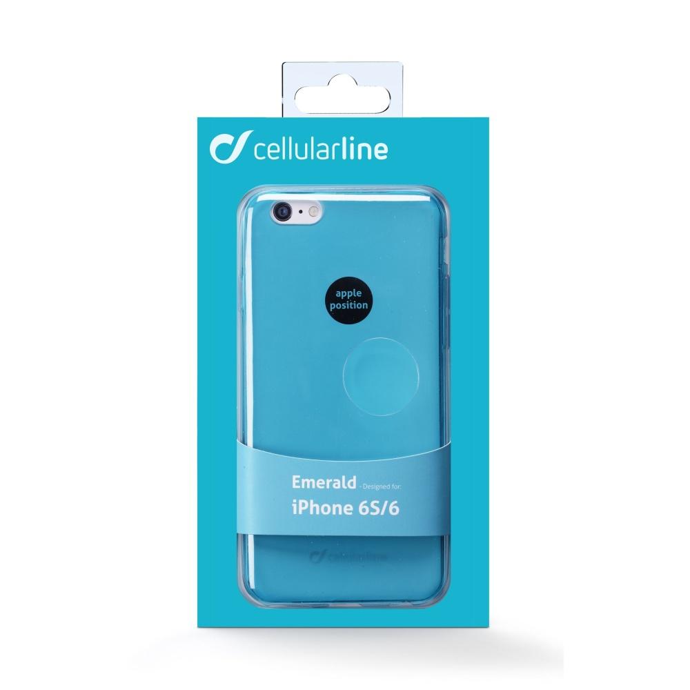 Barevné gelové pouzdro CELLULARLINE COLOR pro Apple iPhone 6, zelené