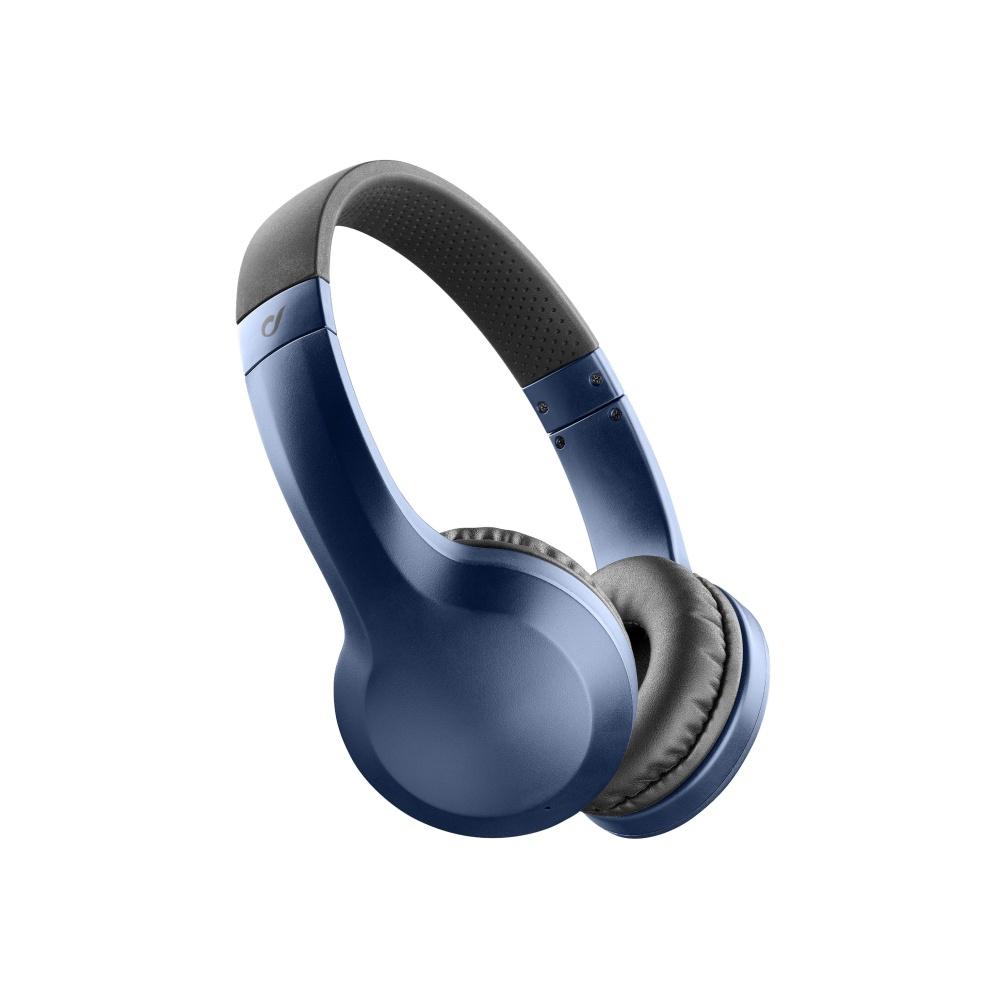 Bezdrátová sluchátka CELLULARLINE AKROS, AQL® certifikace, extra basy, modrá