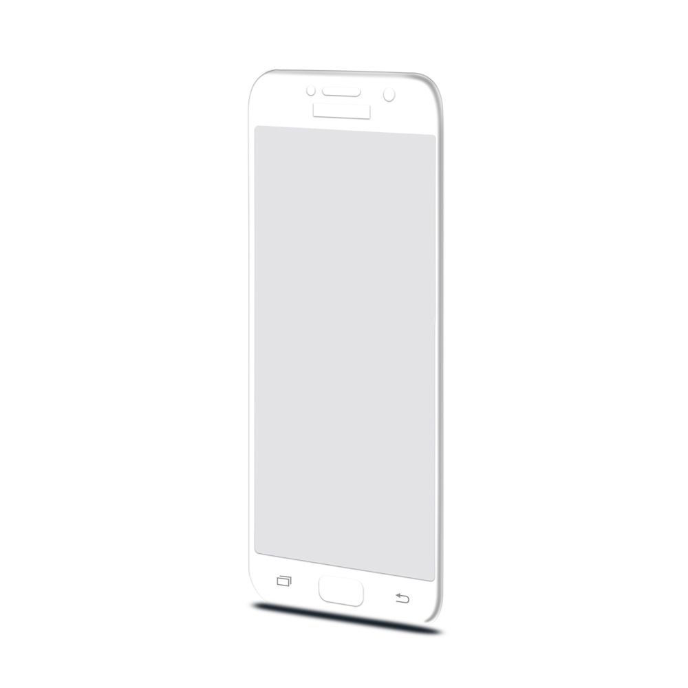 Ochranné tvrzené sklo CELLY 3D Glass pro Samsung Galaxy A5 (2017), bílé (sklo do hran displeje, anti blue-ray)