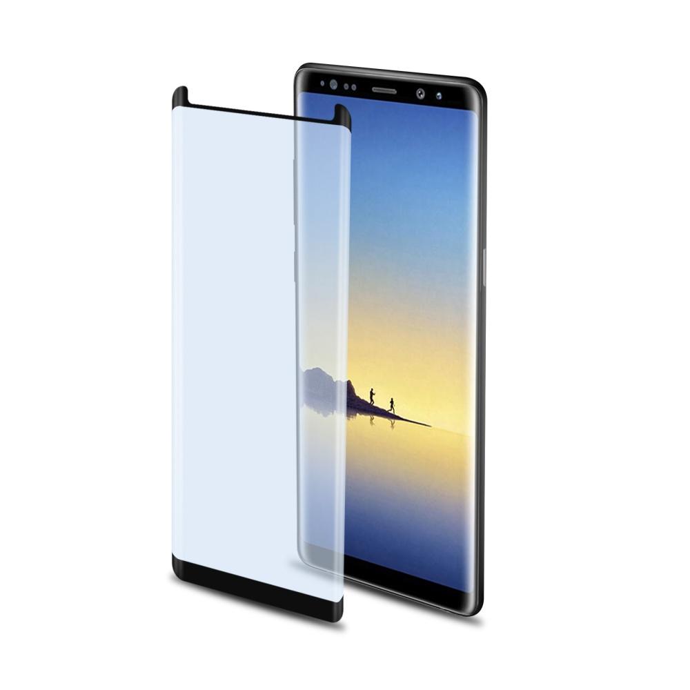 Ochranné tvrzené sklo CELLY Glass pro Samsung Galaxy Note 8, s ANTI-BLUE-RAY vrstvou (sklo do hran displeje)