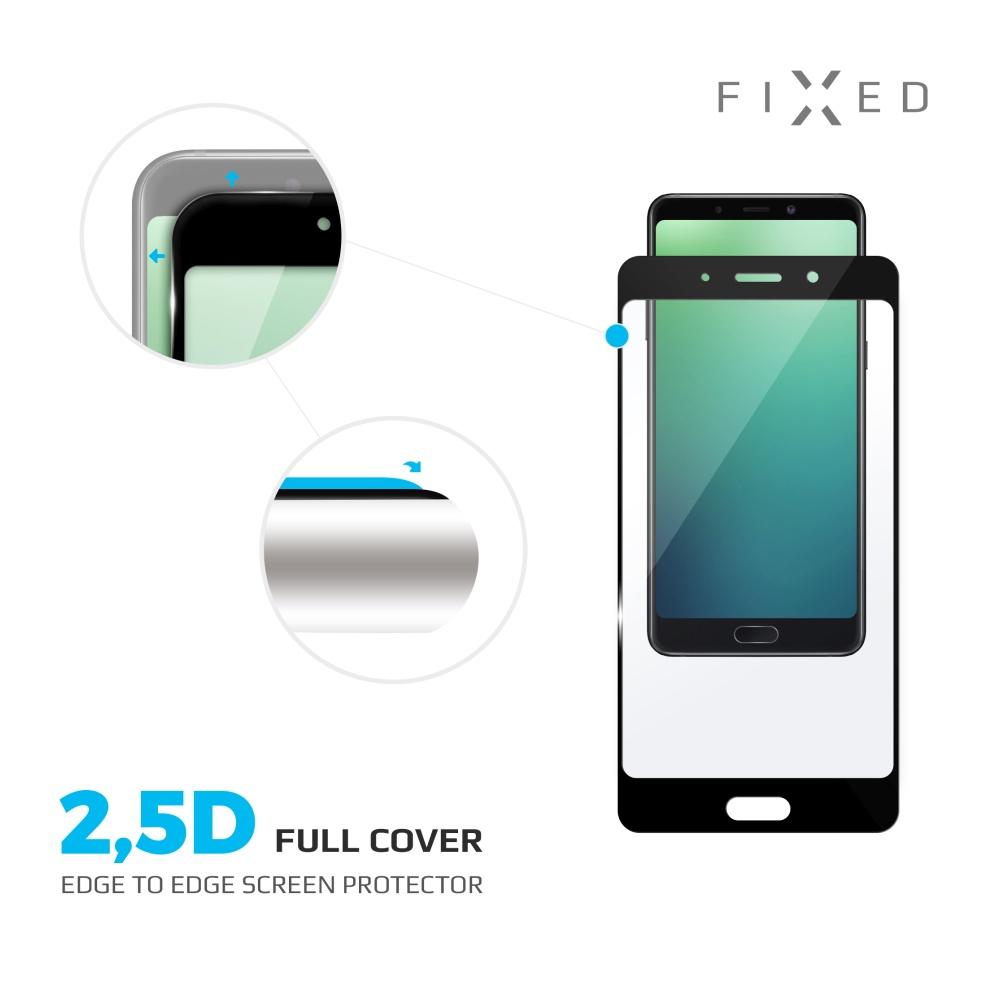 Ochranné tvrzené sklo FIXED Full-Cover pro Honor 8, přes celý displej, černé, 0.33 mm