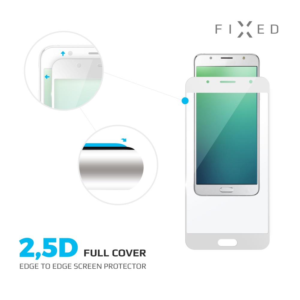 Ochranné tvrzené sklo FIXED Full-Cover pro Huawei P10 Lite, přes celý displej, bílé, 0.33 mm