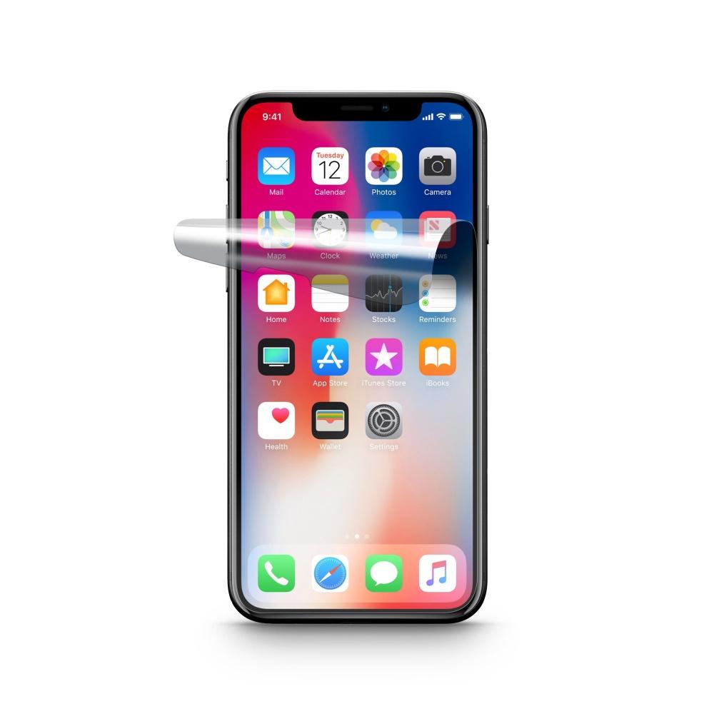 Ochranná fólie displeje CellularLine pro Apple iPhone X, lesklá