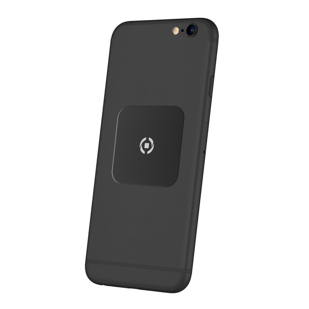 Plíšky CELLY GHOSTPLATE kompatibilní s magnetickými držáky pro mobilní telefony, černý