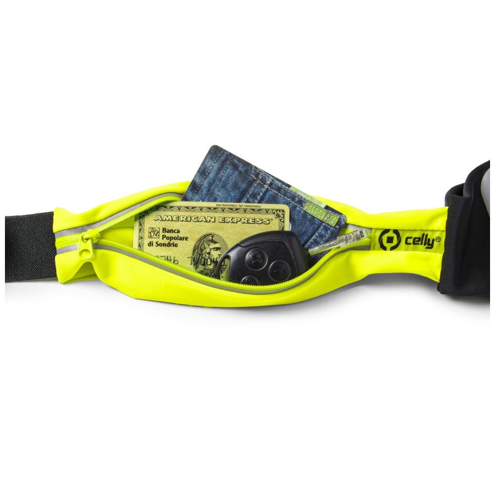 """Sportovní neoprénové pouzdro CELLY RUNBDUO, velikost XL pro telefony do 5"""", žluté"""