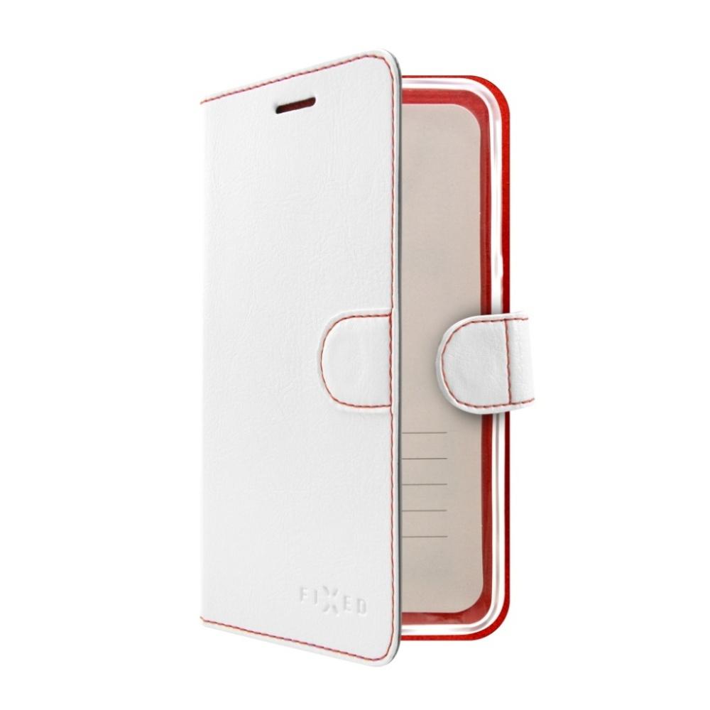 Pouzdro typu kniha FIXED FIT pro Huawei Mate 10 Lite, bílé