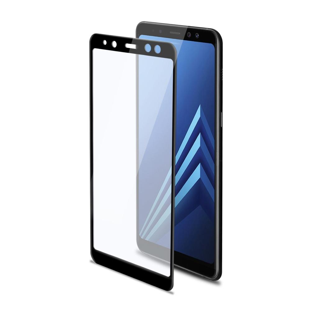 Ochranné tvrzené sklo CELLY 3D Glass pro Samsung Galaxy A8 Plus (2018), černé (sklo do hran displeje, anti blue-ray)