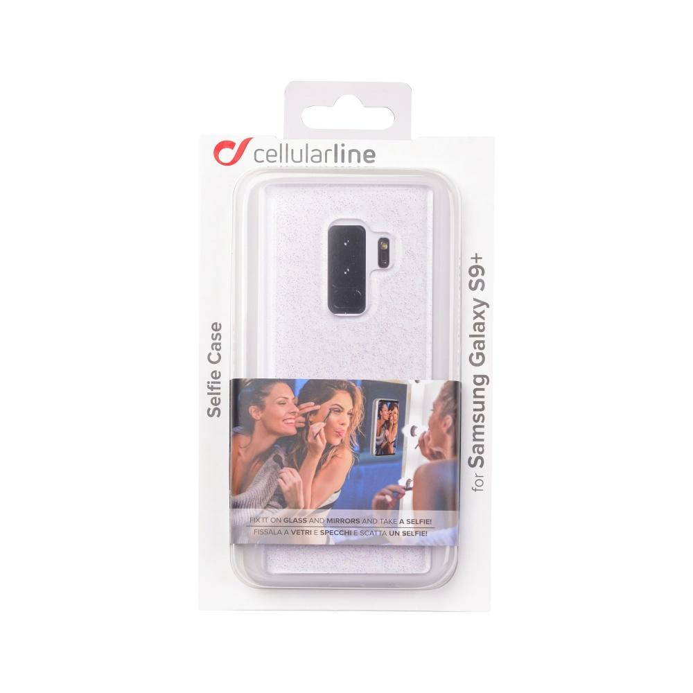 Adhezivní zadní kryt Cellularline SELFIE CASE pro Samsung Galaxy  S9 Plus, transparentní