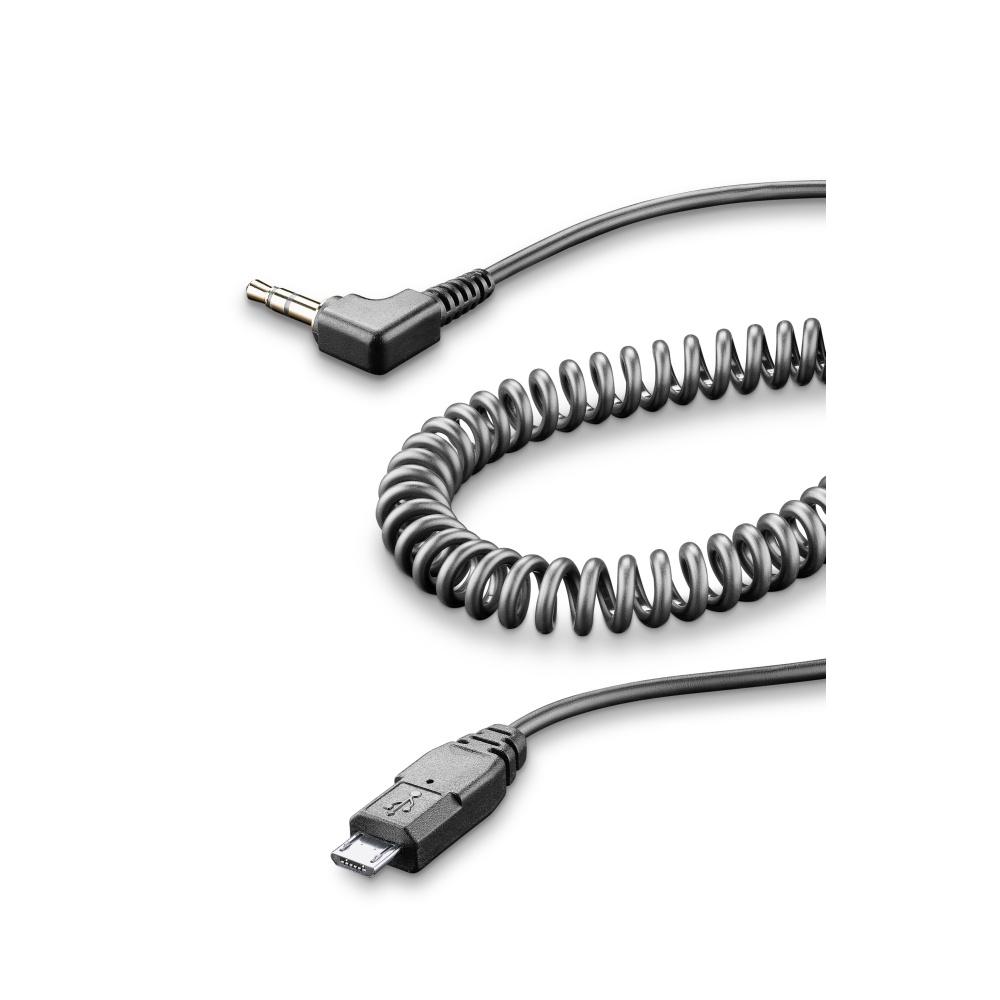 Aux audio kabel Interphone, micro USB konektor