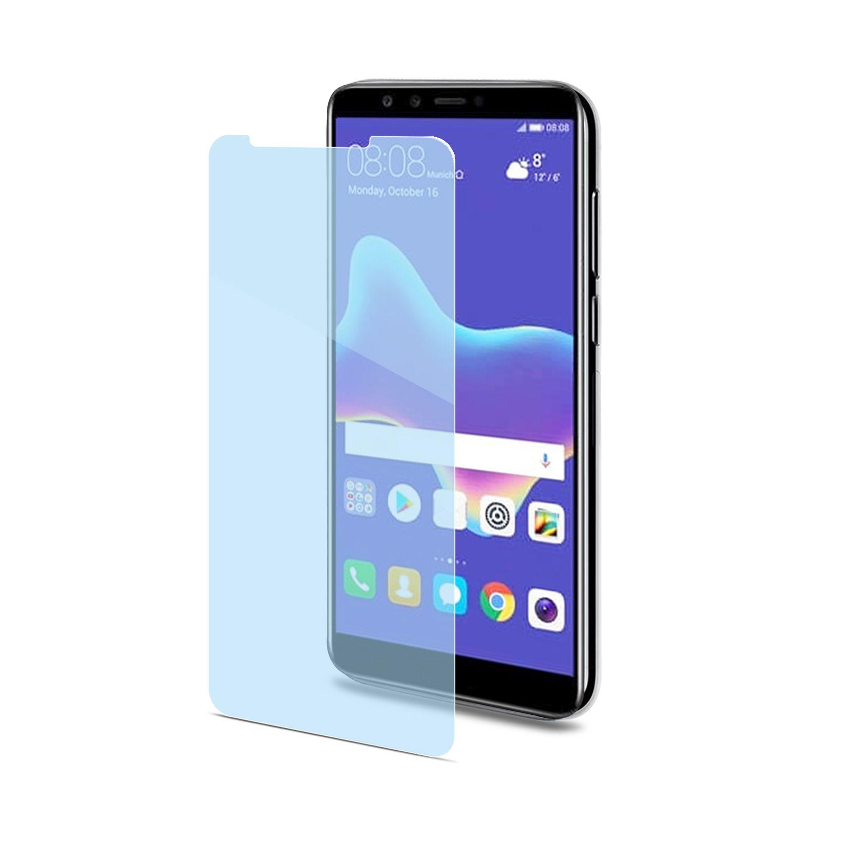 Ochranné tvrzené sklo CELLY Glass antiblueray pro Huawei Y9 (2018)