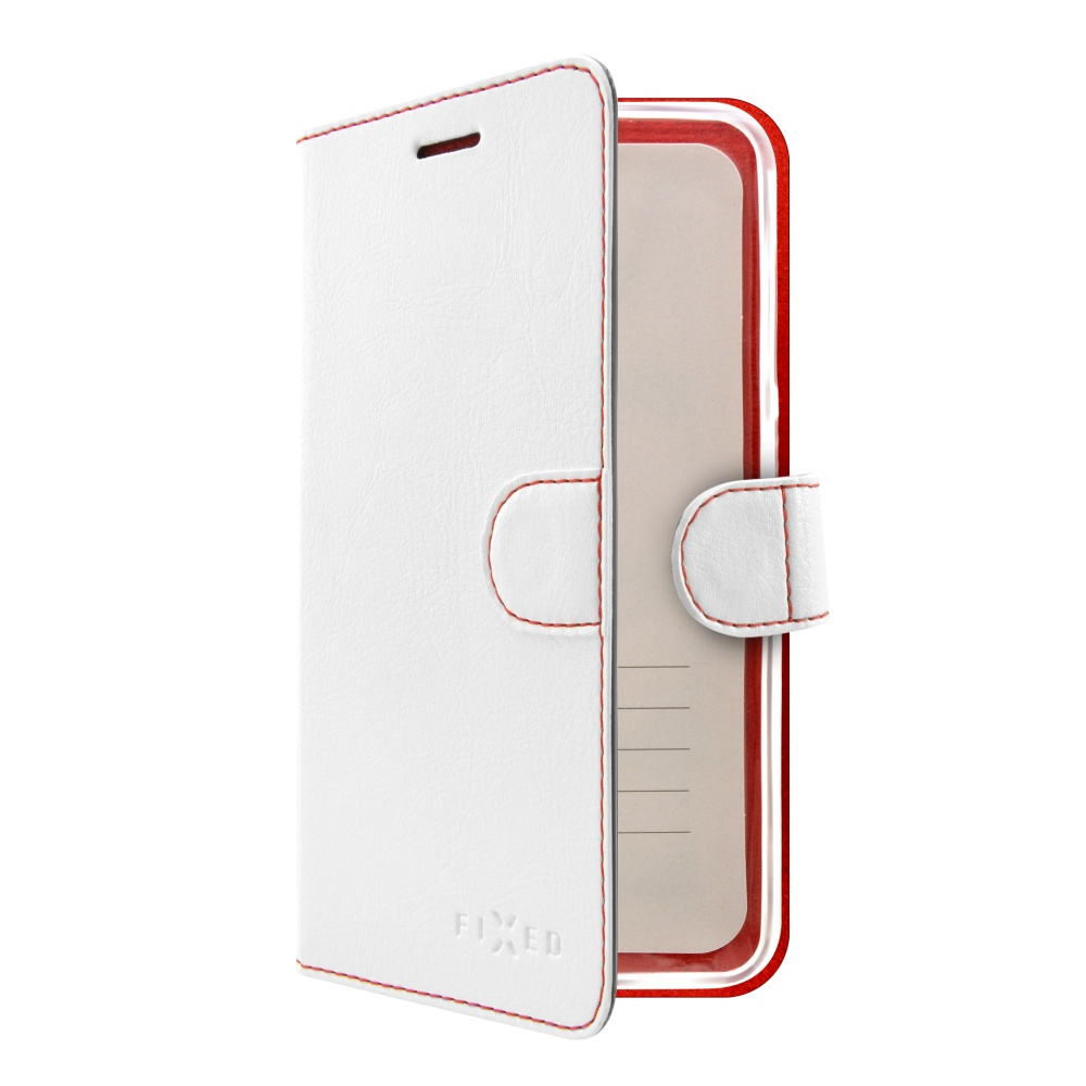Pouzdro typu kniha FIXED FIT pro Huawei P9 Lite (2017), bílé,rozbaleno