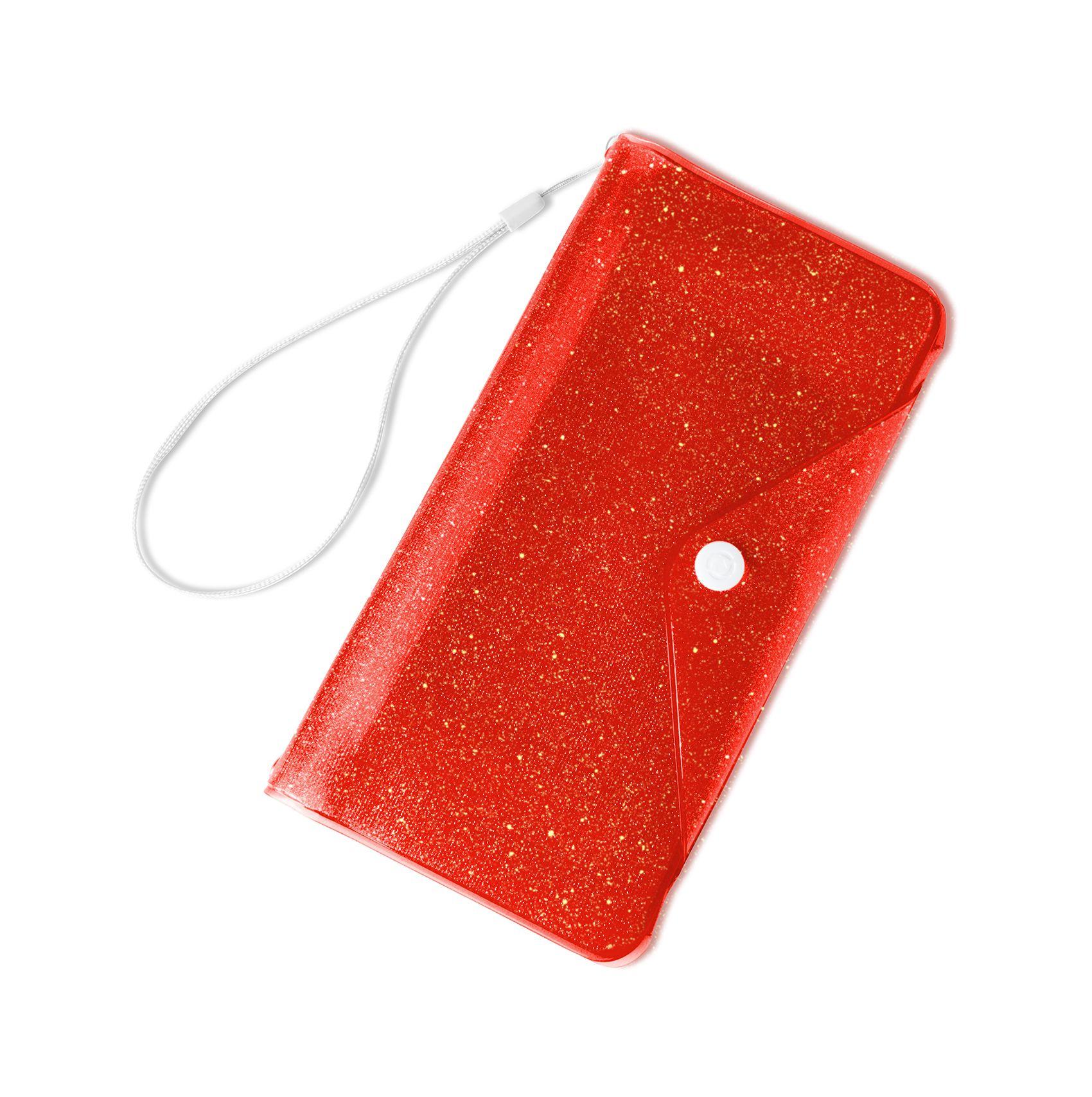 """Univerzální voděodolné pouzdro s peněženkou CELLY Splash Wallet pro telefony 6,2 """", oranžové"""