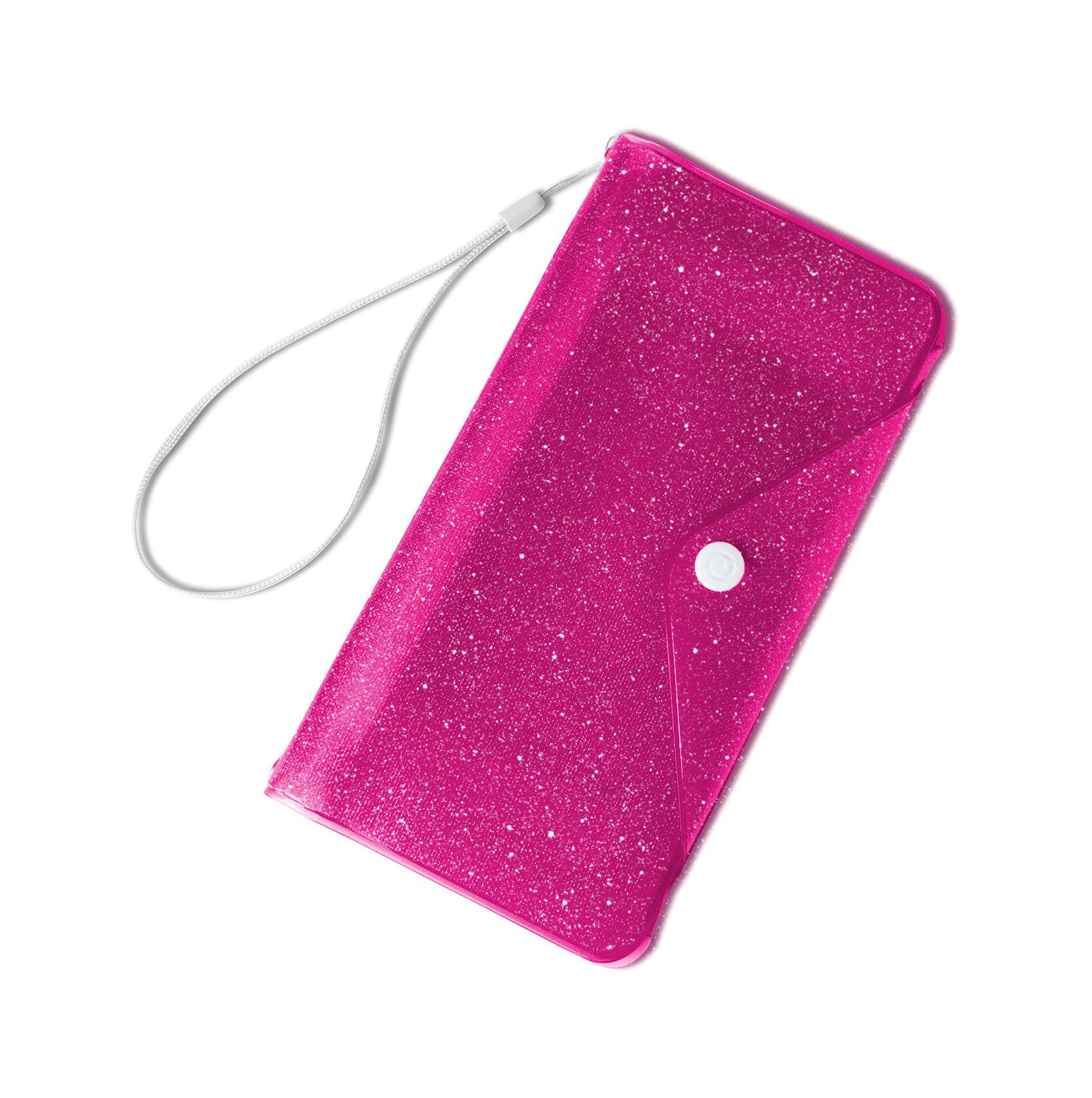"""Univerzální voděodolné pouzdro s peněženkou CELLY Splash Wallet pro telefony 6,2 """", růžové"""