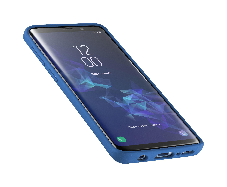 Ochranný silikonový kryt CellularLine SENSATION pro Samsung Galaxy S9, modrý