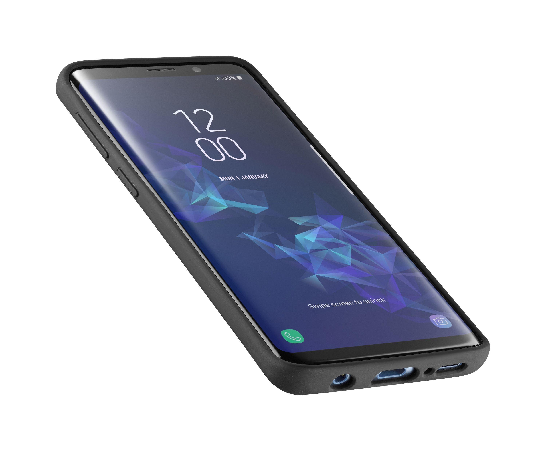 Ochranný silikonový kryt CellularLine SENSATION pro Samsung Galaxy S9, černý