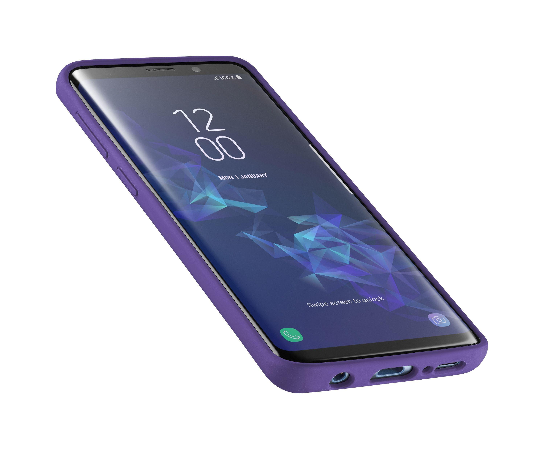 Ochranný silikonový kryt CellularLine SENSATION pro Samsung Galaxy S9, fialový